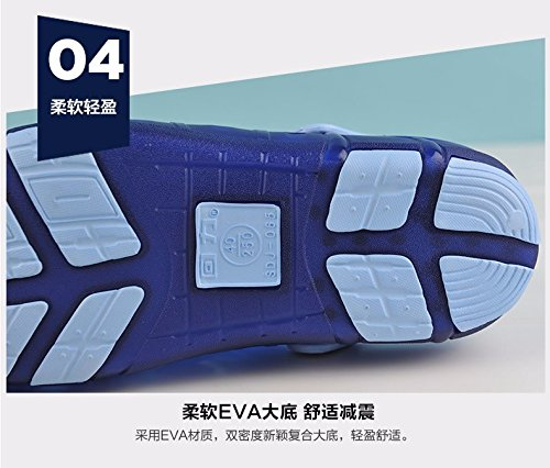 Autunno Il pattino dei nuovi uomini calza i pattini casuali Scarpa respirabile della spiaggia Grande testa antisdrucciolevole Due pattini dei sandali di usura, azzurro, UK = 6.5, EU = 40