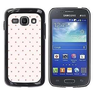 FECELL CITY // Duro Aluminio Pegatina PC Caso decorativo Funda Carcasa de Protección para Samsung Galaxy Ace 3 GT-S7270 GT-S7275 GT-S7272 // Dot Pattern Wallpaper Pink Red