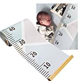 Hapdoo Baby Growth Chart, Hanging Height Growth Chart Ruler Measurement Wall Decor for Kids Roll Up Canvas Removable 79'' x 7.9''