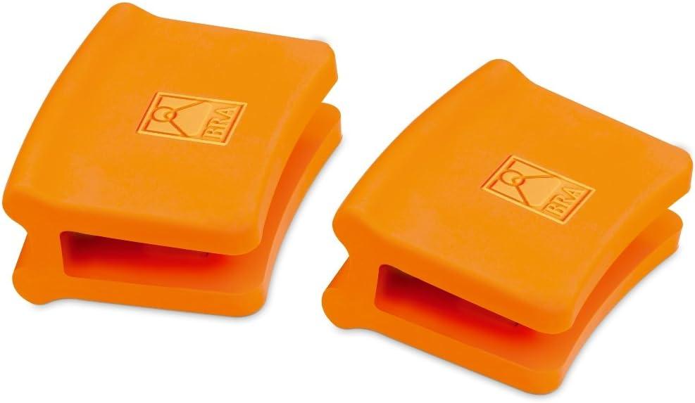 BRA Efficient - Asas de Silicona, 2 Unidades, Medida pequeña, para Efficient con diámetro de 20 cm, Color Naranja