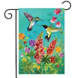 "Briarwood Lane Hummingbird Greeting Spring Garden Flag Floral Birds 12.5"" x 18"""