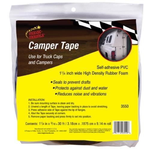 - Camper Tape Seal (1, 1.25 X 3/16 X 30ft)