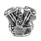 Epinki 925 Sterling Silver Punk Rock Vintage Gothic Mechanical Engine Ring for Men Size 9