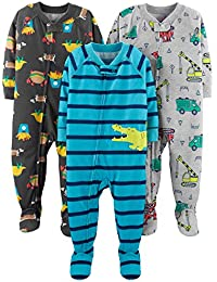 Baby and Toddler Boys' 3-Pack Loose Fit Polyester Jersey...