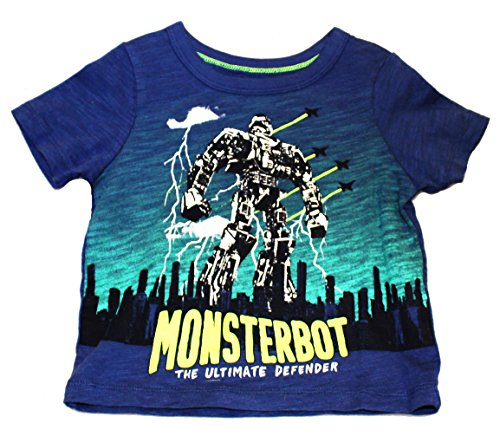 "Price comparison product image Oshkosh Boy's S / S ""Monsterbot - Ultimate Defender"" Tee; Blue (3 Toddler)"