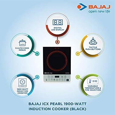 Bajaj ICX Pearl 1900-Watt Induction Cooker (Black) 6