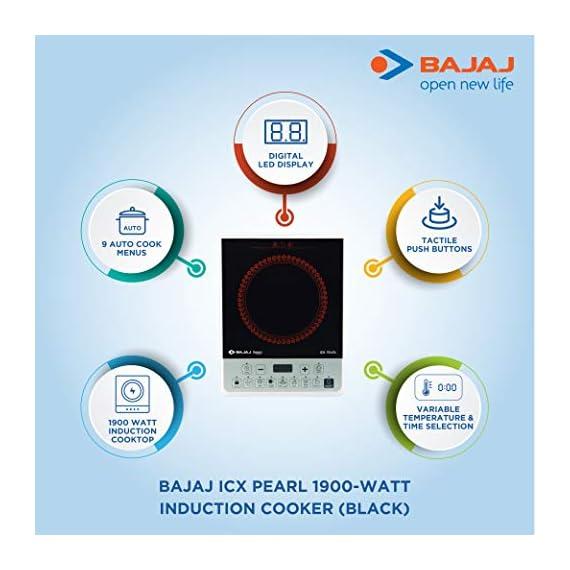 Bajaj ICX Pearl 1900-Watt Induction Cooker (Black) 2
