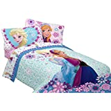 "Disney Frozen Warm Heart Microfiber Comforter, 72"" x 86""/Twin/Full"