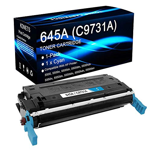 1-Pack Compatible 645A C9731A (Cyan, 12,000 Pages) Print Cartridge Use for HP Color Laserjet 5550hdn Printer, by KDNETS