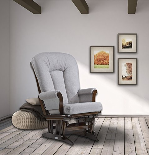 Dutailier Sleigh Glider, Coffee/Pebble Grey by Dutailier