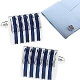 Demarkt Blue Cufflinks for Men Unique Cufflinks