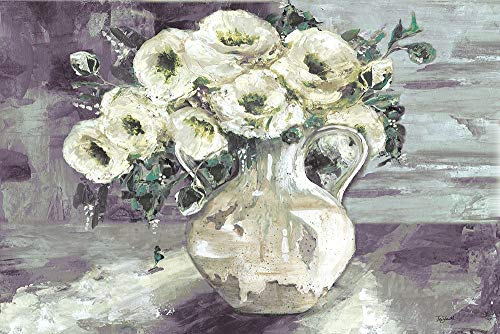 White Flowers in Pottery Pitcher by TRE Sorelle Studios 15