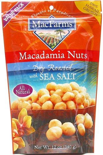 Macadamia Nuts Dry Roasted Sea Salt MacFarms 12oz by MacFarms