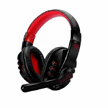 V8 Calidad Profesional Inalámbrico Bluetooth 3.0 Juegos Auriculares Diadema Manos Libres Ajustable Auricular con Micrófono para Teléfonos Inteligentes ...