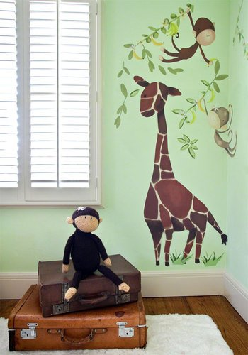 Giraffe Peel (Oopsy Daisy Giraffe & Monkeys Peel and Place Wall Art, 54 by 45)