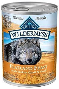 BLUE Wilderness Grain-Free Flatland Feast with Wild Turkey, Quail & Duck Wet Dog Food 12.5-oz (pack of 12)