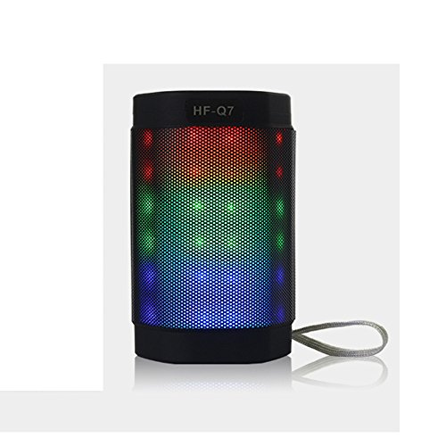 First Bluetooth Speaker, Portable Multi Color Flash LED Ligh