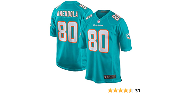 Danny Amendola Miami Dolphins #80 Aqua Kids Youth Home Game Day Player Jersey