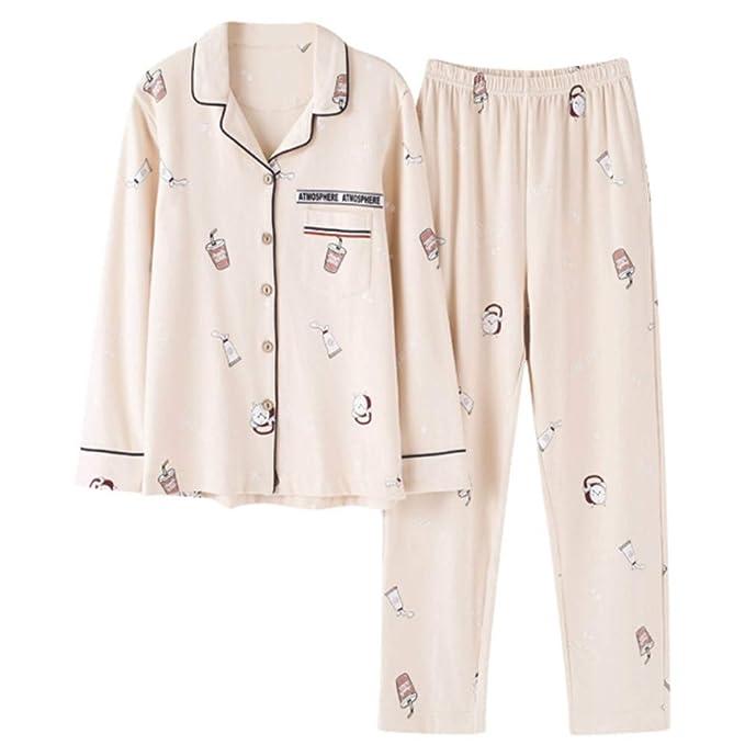 f7459d84e Meaeo Par De Algodón De Gran Tamaño Pijamas Casuales Amante Conjuntos De  Pijama Vestirse Dormir Ropa