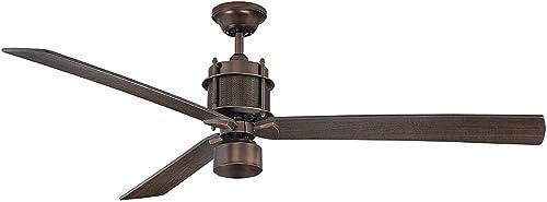 Savoy House 56-870-3CN-35 Muir 56″ 3-Blade Ceiling Fan