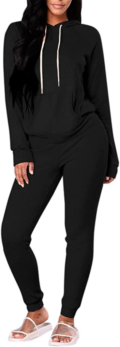FUPHINE Women's Tie Dye Jogger Outfit Sweatsuit 2 Piece Sweatshirt Long Sleeve Hooded and Pants Lounge Sets Tracksuit Black at  Women's Clothing store