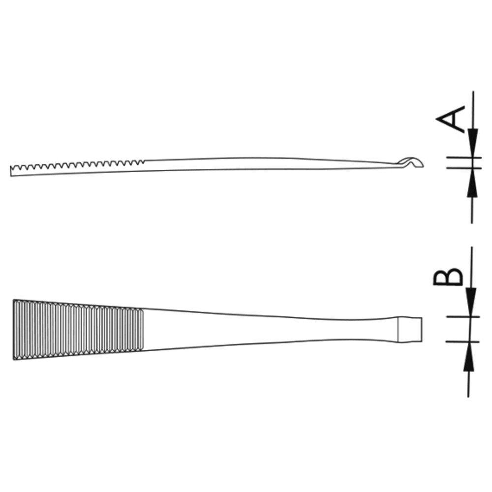 quer Wetec Bauteil-Pr/äzisions-Pinzette 578-SA Bauteil-/Ø 2 mm 115 mm