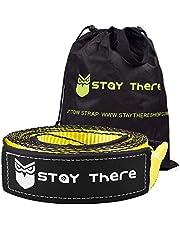 Alça de Recuperação de Reboque Stay Lay, Resistente com Capacidade de 30.000 lb Corda de Reboque de Emergência para Recuperação de Vegetais - Bolsa de ArmazenamentoStay There 3'' x 20 ft Tow Strap ST004-3X20-YL