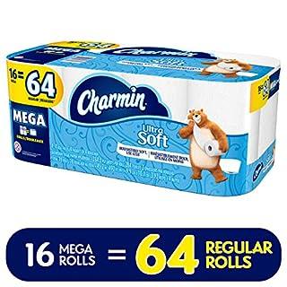 Charmin Ultra Soft Toilet Paper, 16 Mega Rolls (Equal to 64 Regular Rolls) (B071DQ48M5)   Amazon price tracker / tracking, Amazon price history charts, Amazon price watches, Amazon price drop alerts
