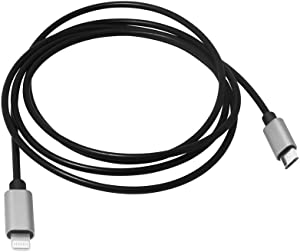 Meenova 8 pin-to-MicroUSB USB DAC OTG Cable for iPhone/iPad/iPod, Sony MDR-1ADAC, Roland GO Mixer, Chord Mojo2 Hugo Pha3 Fiio HiFi Oppo HA2 K5, iRig HD2 Camera 1.2m 4ft, iOS 14 to Android Cord
