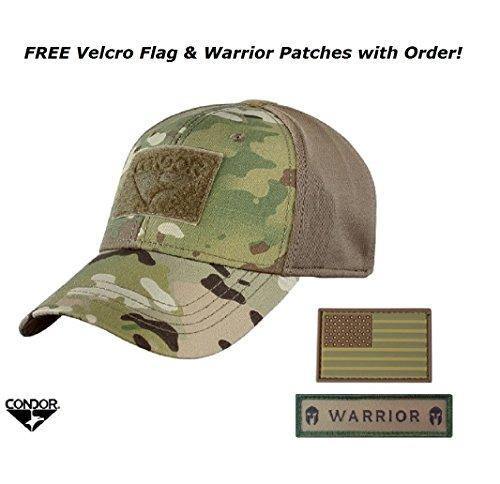 Condor Flex Tactical Cap (MultiCam, L/XL) + FREE PVC Flag Patch