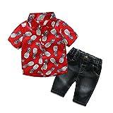 Baby Boys Short Sets Short Sleeve Plaid Shirts Tops