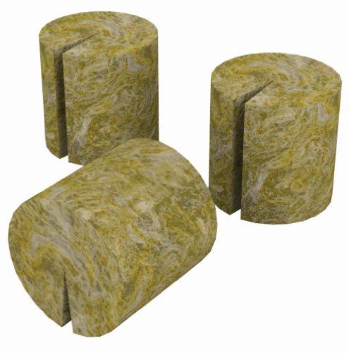 Grodan Rockwool Plant Plugs, Macro, 50-Pack - Stonewool Starter Plugs