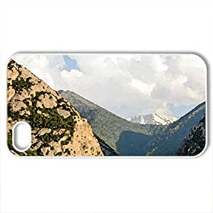 Beautiful scenery - Case Cover for iPhone 4 and 4s (Mountains Series, Watercolor style, White)