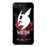 Gebleg-Akame Ga Kill Anime For iPhone 7 Case With Material Black Hard Plastic Case