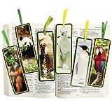 "12 ~ Wildlife Animal Bookmarks ~ Card Stock ~ Approx. 6"" X 2"" ~ New"