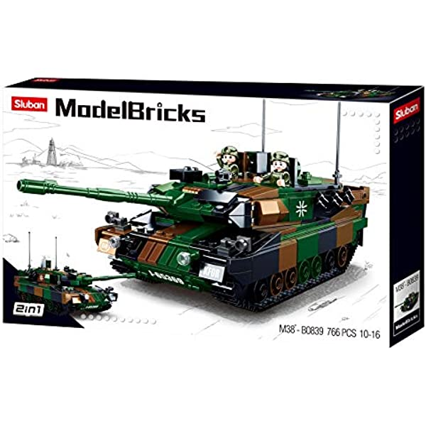 Sluban Compatible Building Blocks MAIN BATTLE 2 IN 1 TANK 99A 893 PCS