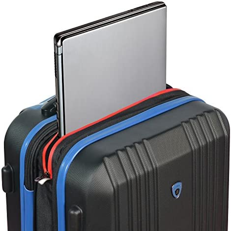 "Olympia Apache Ii 21"" Carry-on Spinner, BLACK+BLUE, One Size"