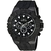 Invicta Men's 'Pro Diver' Quartz Stainless Steel and Polyurethane Casual Watch, Color:Black (Model: 23973)