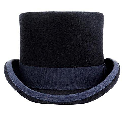 Premium Wool Victorian Steampunk Mad Hatter Top Hat for C...