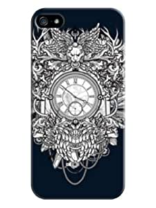 Sangu Complex Clock Hard Back Shell Case / Cover for Iphone 5 and 5s - Navy