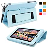 Nexus 7 Case, Snugg™ - Smart Cover with Flip Stand & Lifetime Guarantee (Baby Blue Leather) for Nexus 7