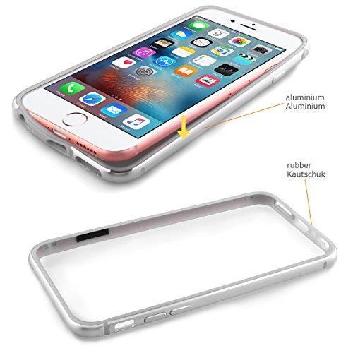 Alienwork Coque pour iPhone 6 Plus/6s Plus ultra-mince Case Etuis Housse Aluminium argent AP6SP03-02