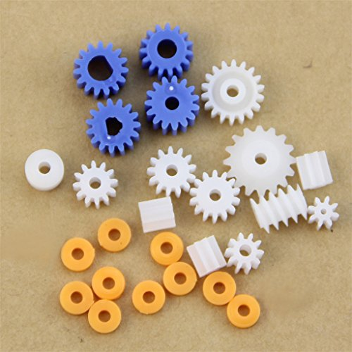 (YUNAWU 16 Kinds Shaft Gears Spindle Gears Gear-B 2MM 2.3MM 3MM 3.17MM 4MM Worm Plastic)