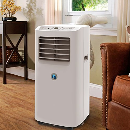 JHS Air Unit, A019-8KR/A Small Cooler Dehumidifier with Timer, and Fan