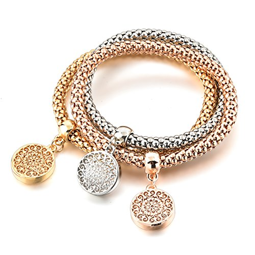 - Long Way Women's Gold Silver Plated Chain Bracelet