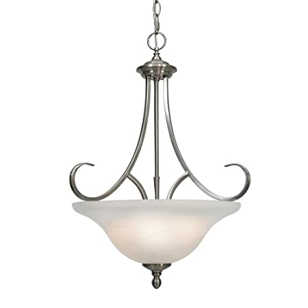 Golden Lighting 6005-3P PW Lancaster Pendant Bowl, Pewter Finish