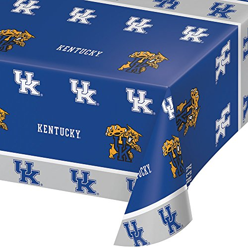 Desk Ncaa Wildcats (Creative Converting Kentucky WildUsts Plastic Table Cover, 54