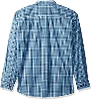 dickies Men's Long Sleeve Relaxed Fit Yarn Dye Plaid Shirt