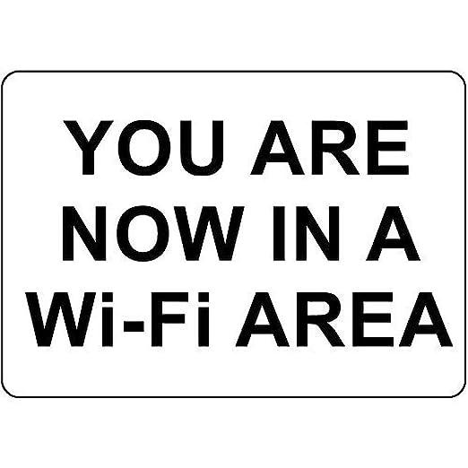 Tarfy You Are Now in A WiFi Area Decoración de Pared Retro ...