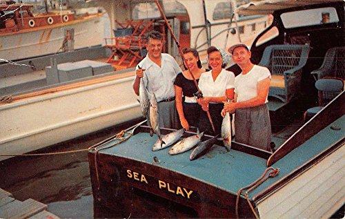 Ocean City Maryland Bonita Fishing Boat Vintage Postcard - Md City Ocean In Stores